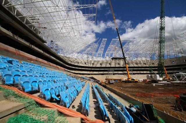FOTO: Azul começa a predominar na Arena do Grêmio Lucas Uebel/Grêmio/Divulgação/