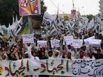 Grupo islâmico protestou no Paquistão