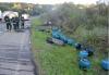 Botijões de gás pegam fogo na carroceria de caminhão e Rota do Sol fica bloqueada por quase uma hora, em Caxias do Sul