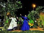 Entre os temas abordados pelas alegorias, estavam a flora (foto), fauna, etnia, indústria e a história da cultura e da sociedade gaúcha