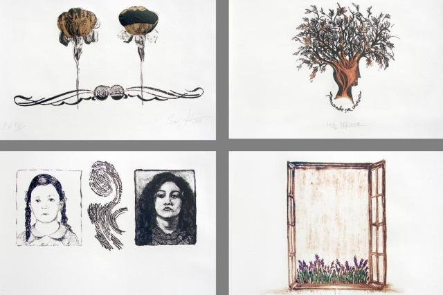 Gravuras em exposição no StudioClio Amigas da Pedra/Divulgação