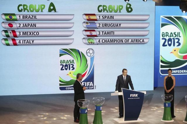Definidos os grupos da Copa das Confederações 2013 Andre Penner/AP