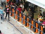 No Aeroporto Internacional Salgado Filho, a movimentação de passageiros foi grande, para as viagens do Ano Novo