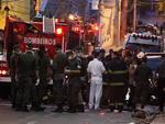 Dezenas de viaturas e homens trabalharam no resgate das vítimas