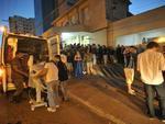 Dezenas de vítimas foram levadas para o Hospital de Caridade, em Santa Maria.