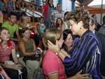 A presidente Dilma Rousseff viajou a Santa Maria para acompanhar os desdobramentos da tragédia