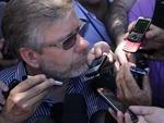O presidente da Câmara dos Deputados, Marco Maia (PT-RS) compareceu ao local da tragédia
