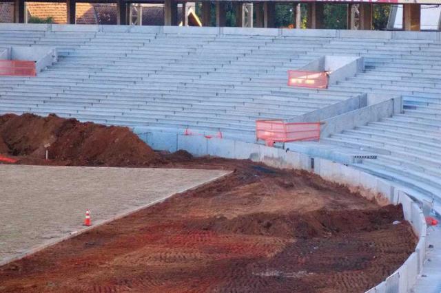FOTO: veja como está o novo gramado do Beira-Rio 19 dias após o plantio Beira-Rio, Gigante Para Sempre - SCI - Facebook/Divulgação/