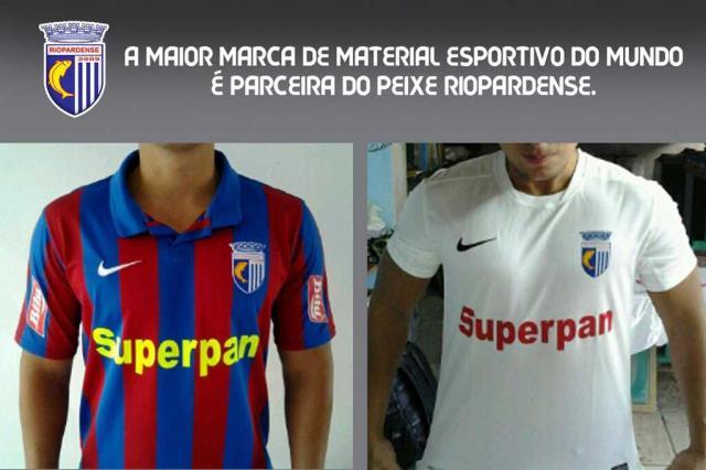 Riopardense divulga foto com as novas camisas produzidas pela Nike Twitter/Reprodução/