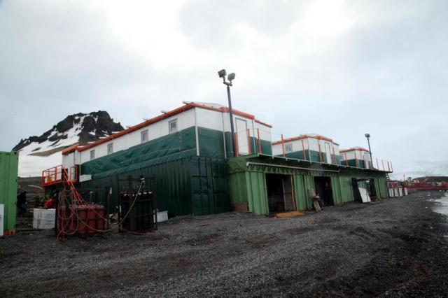Brasil conclui obras de estação provisória na Antártica Marinha do Brasil/Divulgação
