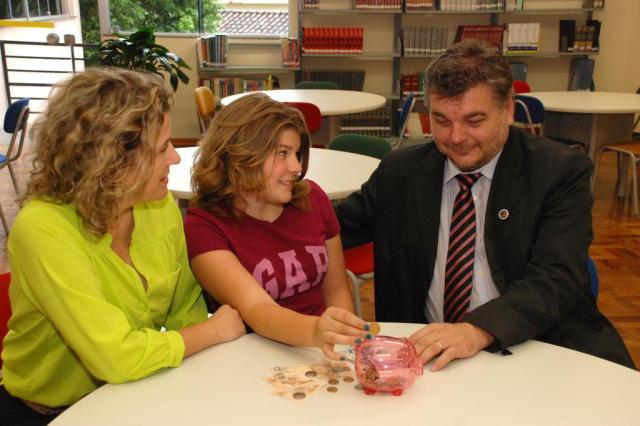Educação financeira começa na infância Graziela Hansen/Divulgação