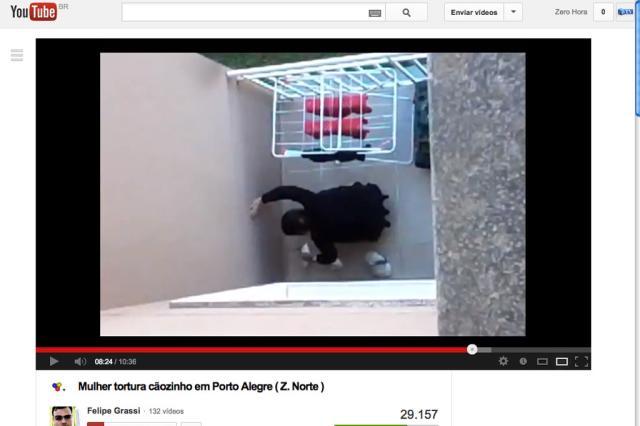Vídeo mostra agressão de cachorro em Porto Alegre Reprodução/