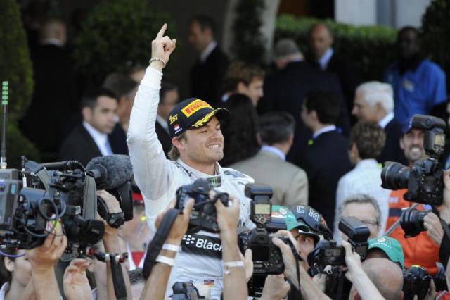 Alemão Nico Rosberg vence o Grande Prêmio de Mônaco BORIS HORVAT/AFP