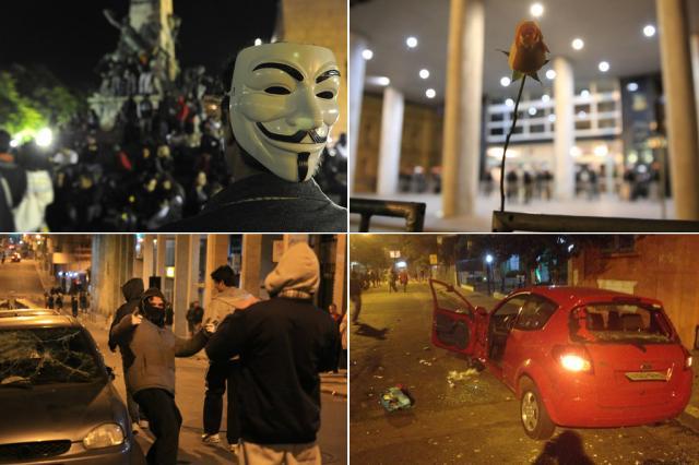 Sete jovens são indiciados por formação de milícia em protestos na Capital Montagem sobre fotos de Adriana Franciosi, Anderson Fetter e Cristiano Goulart/