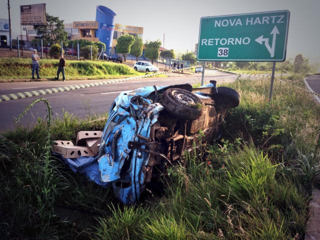 Homem morre em acidente na ERS-239, em Sapiranga Mateus Ferraz/Rádio Gaúcha