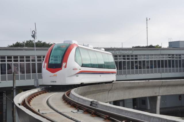 Após problema técnico, aeromóvel volta a funcionar em Porto Alegre Divulgação / Trensurb/