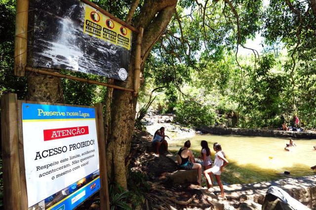 Impasse sobre o terreno impede melhorias na sinalização da cachoeira da Costa da Lagoa Guto Kuerten/Agencia RBS