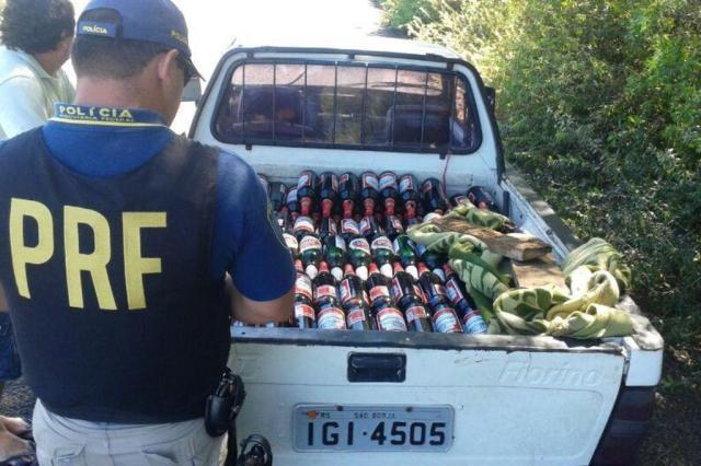 PRF apreende mais de 400 litros de cerveja importada na Fronteira Oeste Polícia Rodoviária Federal/Divulgação