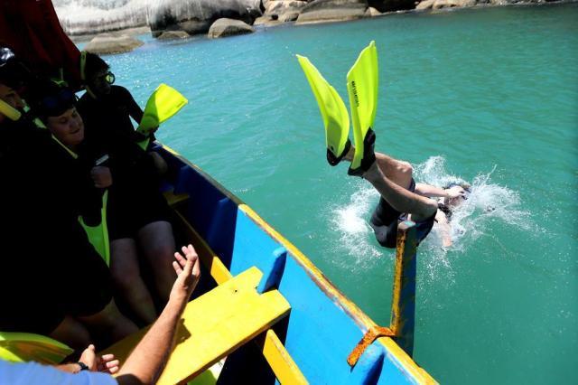 Passeio proporciona mergulhos em diferentes horizontes na Ilha Campeche Alvarélio Kurossu/Agencia RBS