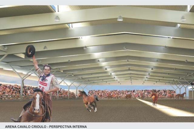 Avança o projeto para construção da arena do cavalo crioulo reprodução/Divulgação,ABCCC