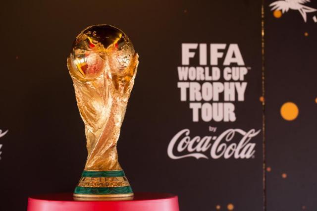Tour da taça da Copa do Mundo passa pelo centro de Florianópolis em maio Divulgação/Divulgação