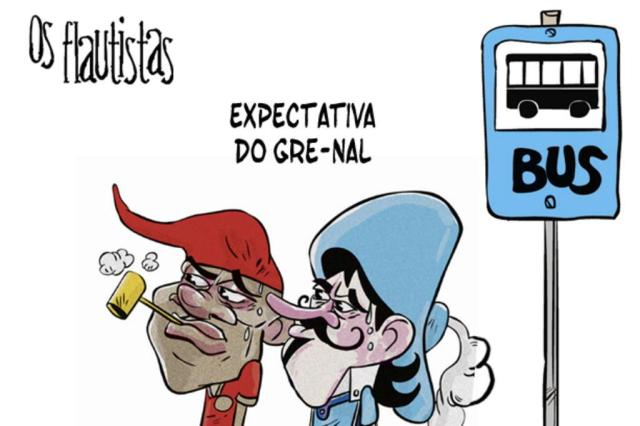 Os Flautistas: O Gre-Nal nos ônibus Gabriel Renner/Arte ZH