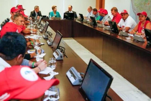 Após confronto com a polícia, MST apresenta carta com reivindicações a Dilma Roberto Stuckert Filho/Presidência da República