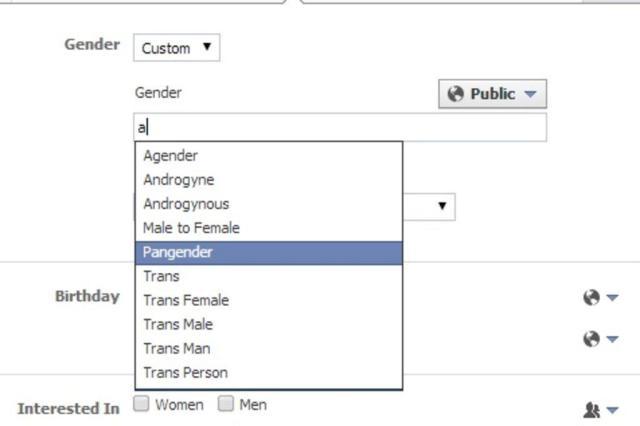 Facebook permite que usuários escolham novos gêneros no perfil além de masculino e feminino Reprodução/Facebook