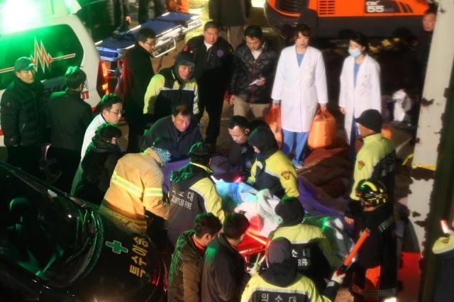 Prédio desaba e mata 10 pessoas na Coreia do Sul YONHAP/AFP