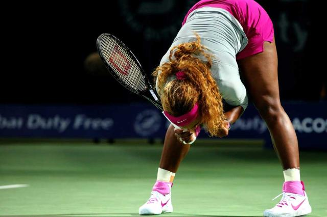 A comemoração elástica de Serena Williams MARWAN NAAMANI / AFP/