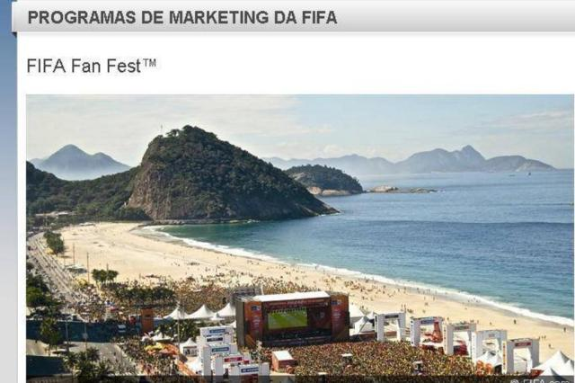Florianópolis pode receber Fan Fest da Fifa durante a Copa do Mundo Reprodução/Site Oficial da Fifa
