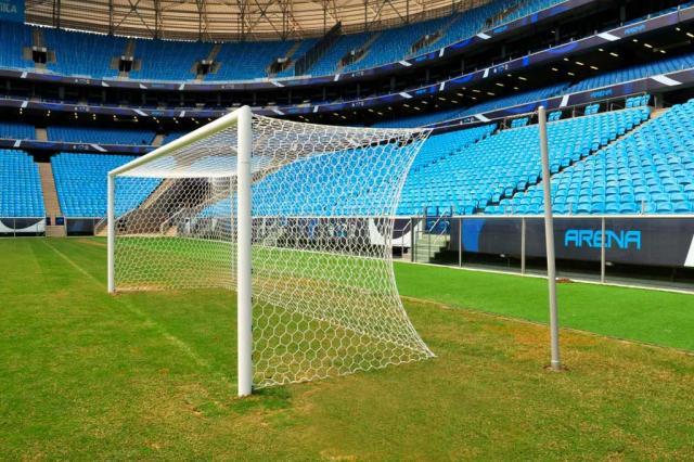 FOTO: Arena do Grêmio muda goleiras para atender ao padrão Fifa FRANCISCO ALVES/ARENA/Divulgação/