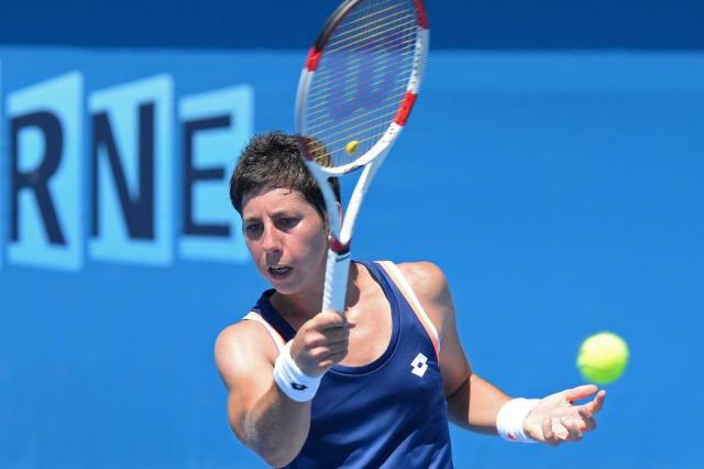 Conheça Carla Suárez Navarro, destaque do WTA - Brasil Tennis Cup MAL FAIRCLOUGH/AFP