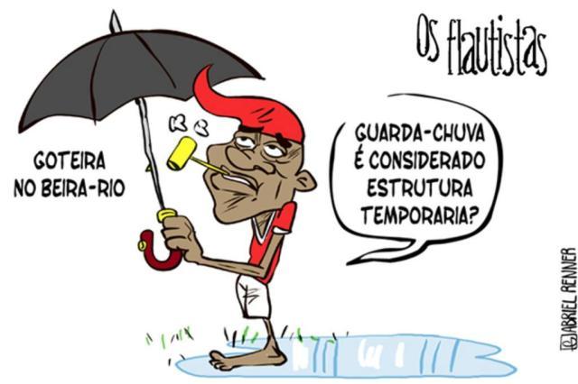 Os Flautistas: A chuva no novo Beira-Rio Gabriel Renner/Arte ZH