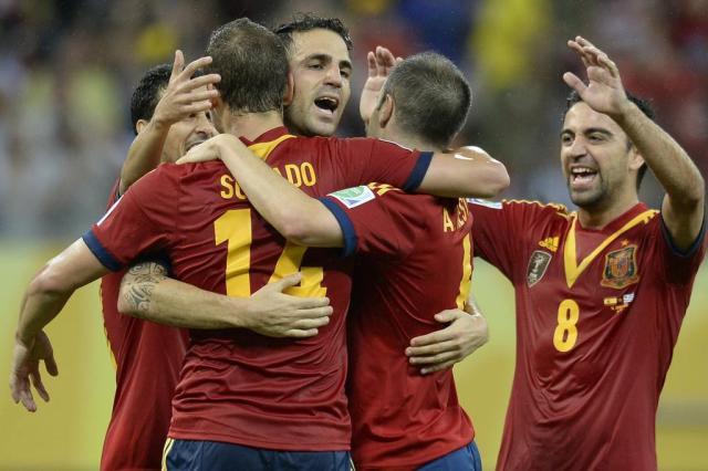 Espanha divulga último adversário antes da Copa e cronograma até chegar ao Brasil AFP PHOTO / LLUIS GENE/AFP
