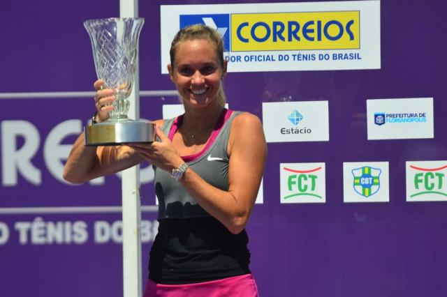 Zakopalova busca virada incrível e conquista o WTA Brasil Tennis Cup em Florianópolis André Podiacki/Agência RBS