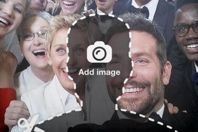 Aplicativo permite que usuário insira sua imagem no selfie do Oscar Urturn/Reprodução