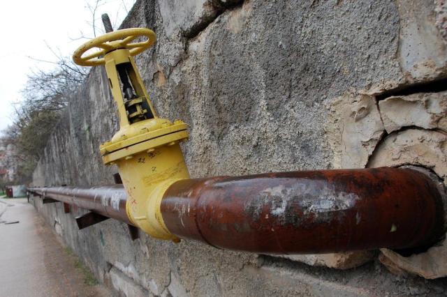 Russa Gazprom anuncia fim da redução do preço do gás vendido à Ucrânia VLADIMIR DOKIN/AFP