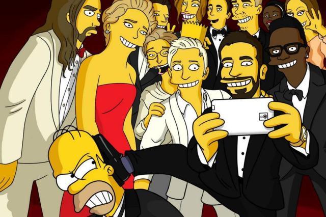 Simpsons no selfie do Oscar: paródia de Matt Groening ganha o Twitter Twitter/Reprodução