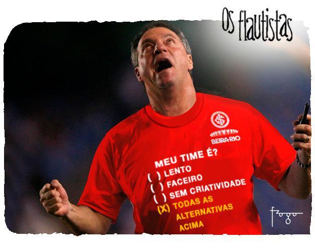 Os Flautistas: a equipe de Abel Braga Gilmar Fraga/