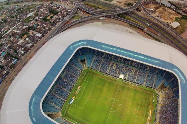 À espera de formalizar acordo, Grêmio já cumpre novos termos do contrato com a OAS Bruno Alencastro/Agencia RBS