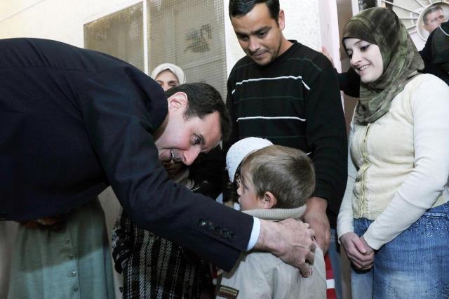 Assad quer continuar combate contra rebeldes HO / SANA/AFP