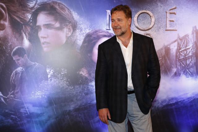 Ator Russell Crowe divulga o filme 'Noé' no Rio de Janeiro Felipe Assumpção/Léo Marinho/AgNews
