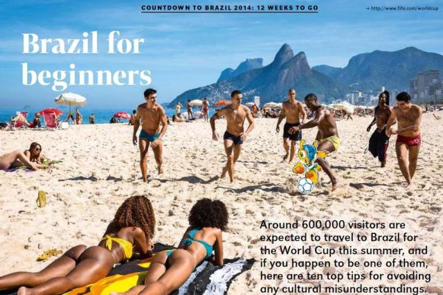 Revista da Fifa afirma que o Brasil deixa tudo para a última hora  Reprodução/Fifa Weekly