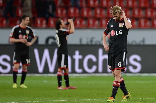 Bayer Leverkusen perde em casa e vê vaga na Liga dos Campeões ameaçada Patrik Stollarz,AFP/