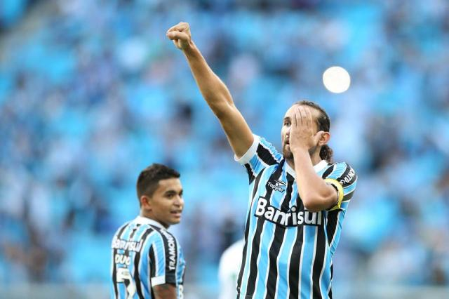 Perigo na área: Barcos marcou seus 12 gols como centroavante de referência Ricardo Duarte/