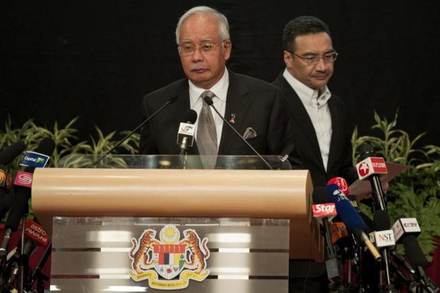Confira íntegra do discurso do primeiro-ministro da Malásia confirmando a queda da aeronave MOHD RASFAN/AFP