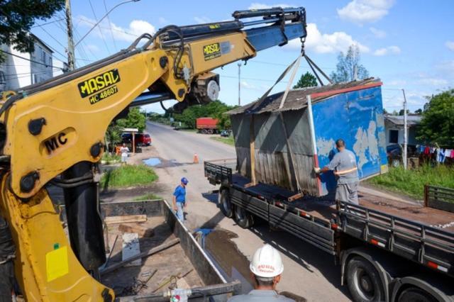 Trailers de Pelotas são retirados das ruas para reorganização de espaço público Prefeitura Pelotas/Divulgação
