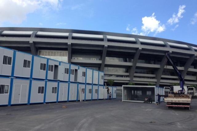 Estruturas temporárias do Maracanã para a Copa do Mundo começam a ser montadas Eduardo Gabardo/Agencia RBS