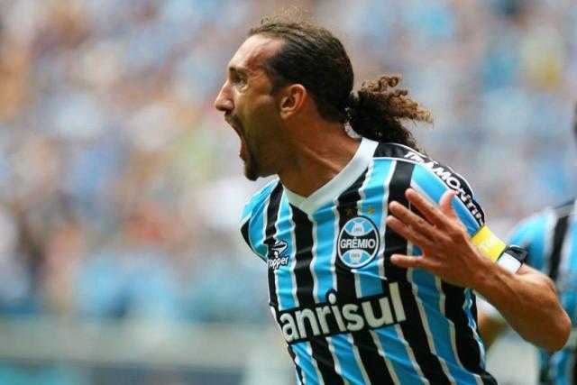 Em quatro meses neste ano, Barcos supera número de gols de 2013 Lucas Uebel / Grêmio/Divulgação